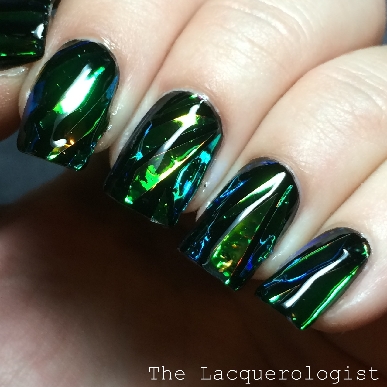 Shattered Glass Manicure (The Internet\'s Latest Nail Craze) • Casual ...
