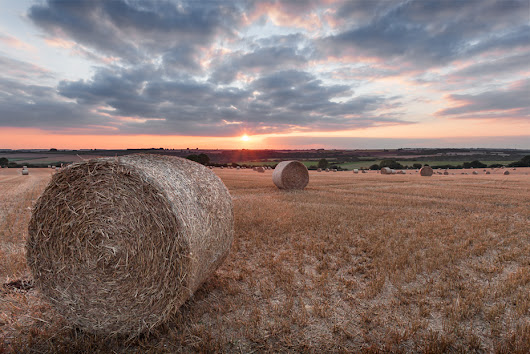 Photo journal of sorts: Hay Bales at Sunset