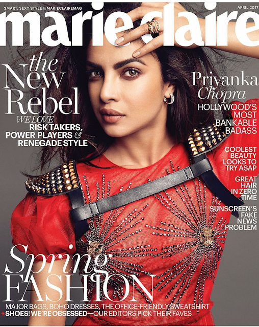 Priyanka Chopra Covers The April 2017 Issue Of Marie Claire