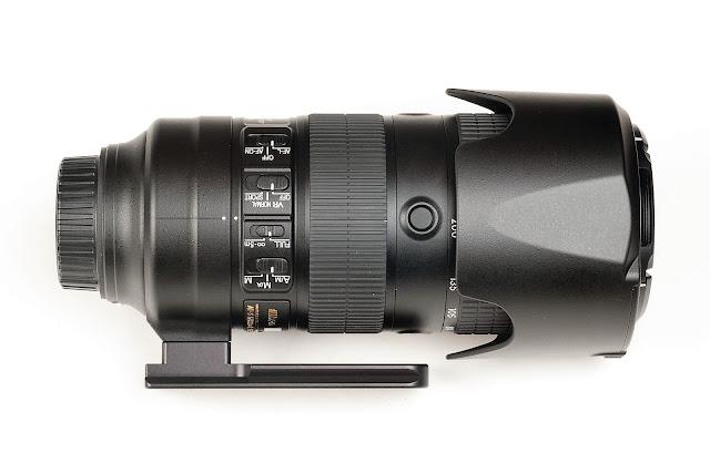 Hejnar H128 Replacement Foot on Nikon 70-200mm f/2.8E FL ED VR w/ hood