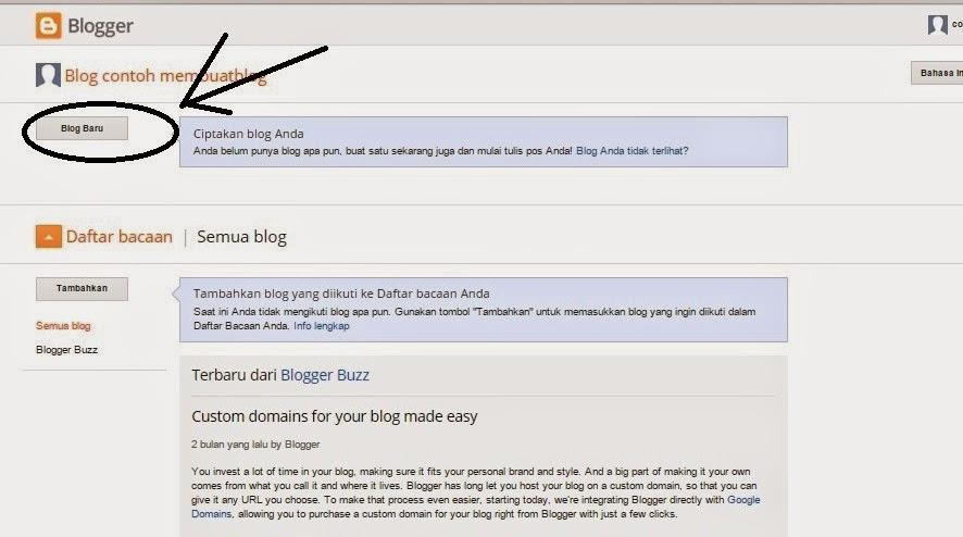 Langkah Ke-empat Membuat Blog Gratis