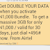 Airtel Double Data Offer | How To Double Your Data Via Airtel Double Data Offer Get 3GB for N1000, 7GB for N2000, 18GB for N4000