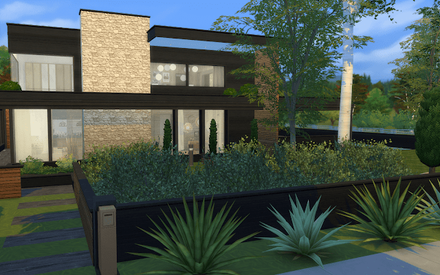 maison style moderne sims