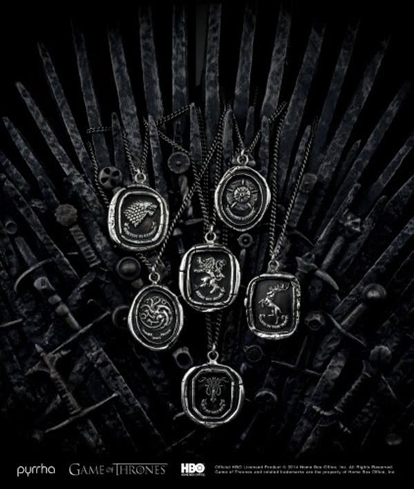 a243e6e2830 Jóias confeccionadas para a Série Game of Thrones