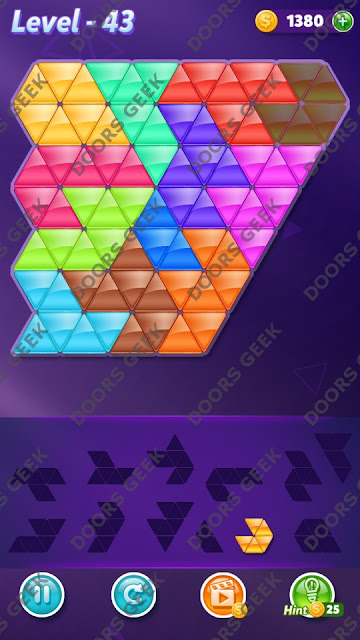 Block! Triangle Puzzle Grandmaster Level 43 Solution, Cheats, Walkthrough for Android, iPhone, iPad and iPod