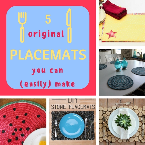 5 original placemats you can easily make