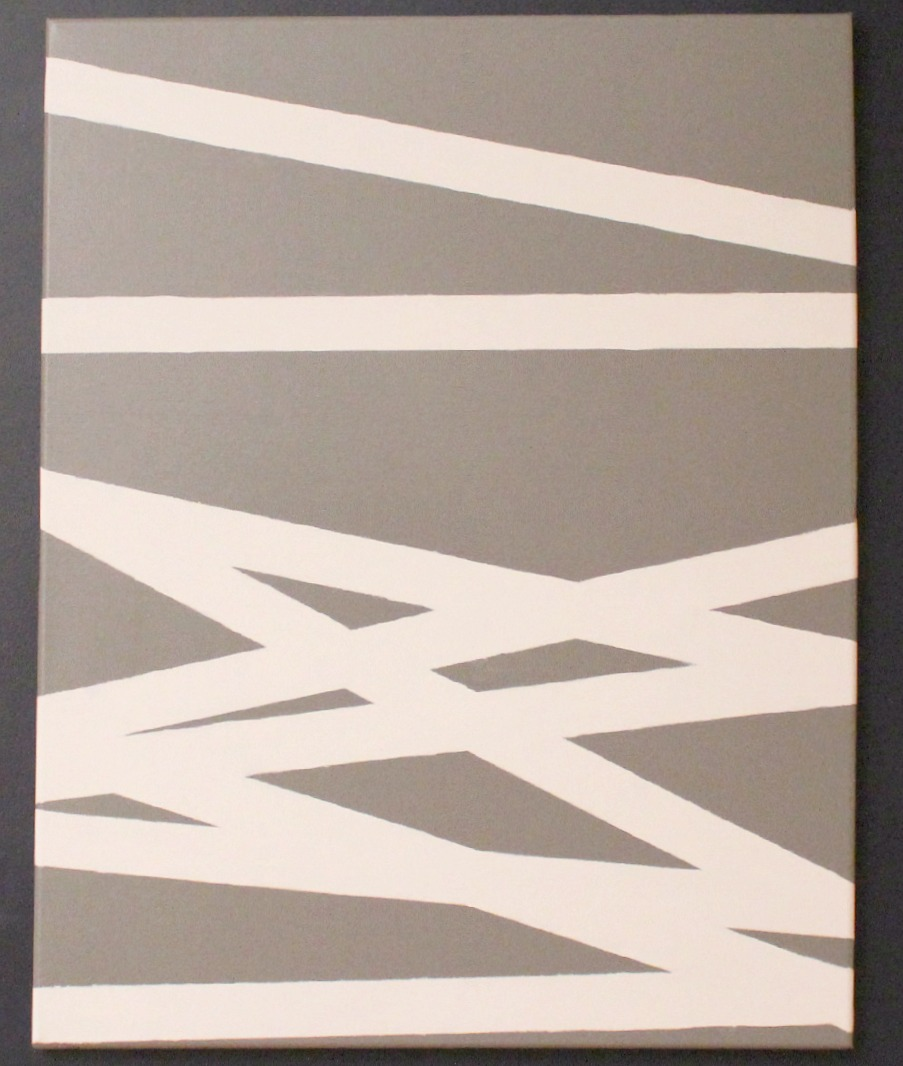 Canvas Painting With Tape: Ten June: Painters Tape Abstract Art & ScotchBlue Painting