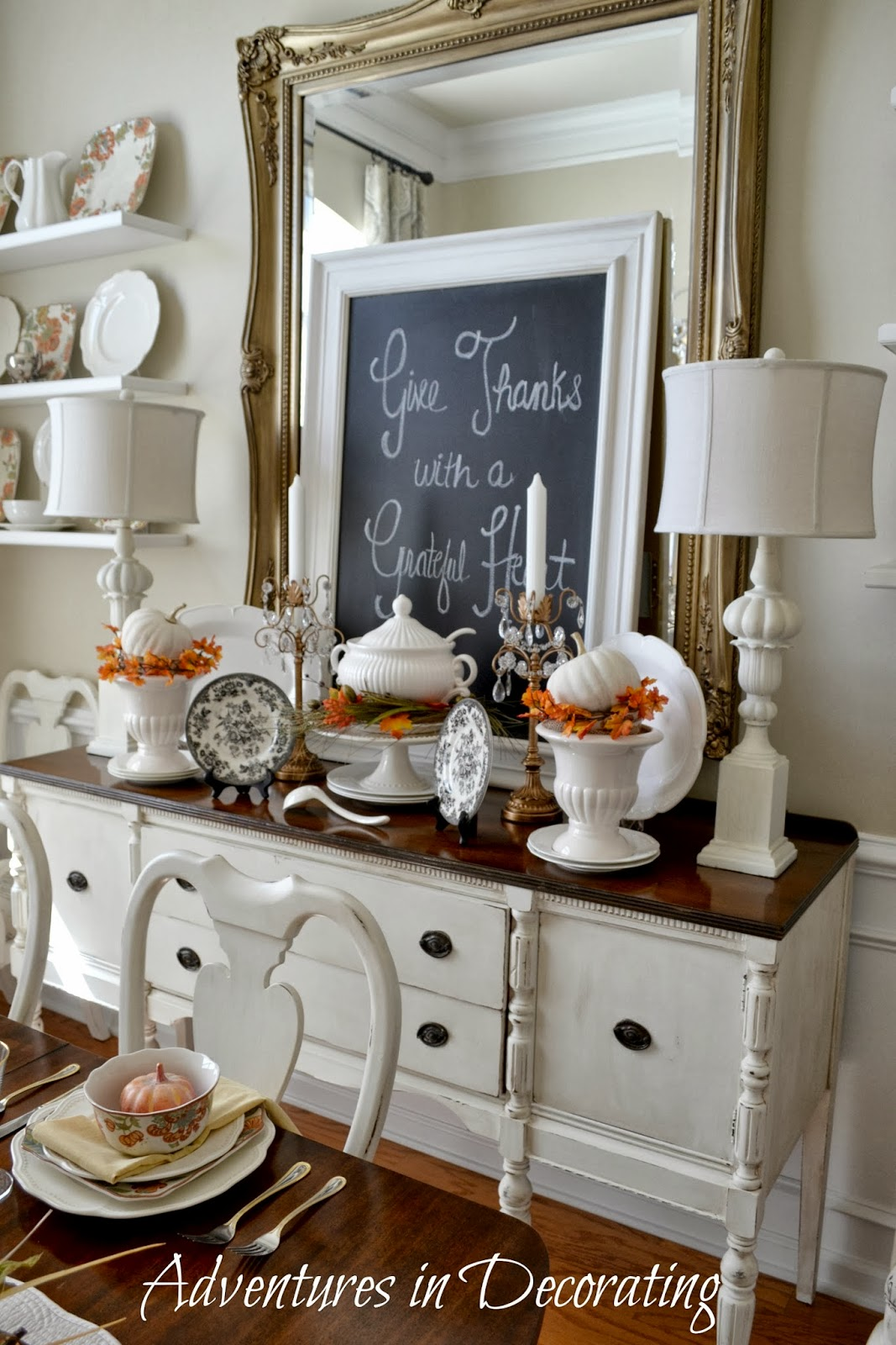 Adventures In Decorating: Fall Around The Dining Room