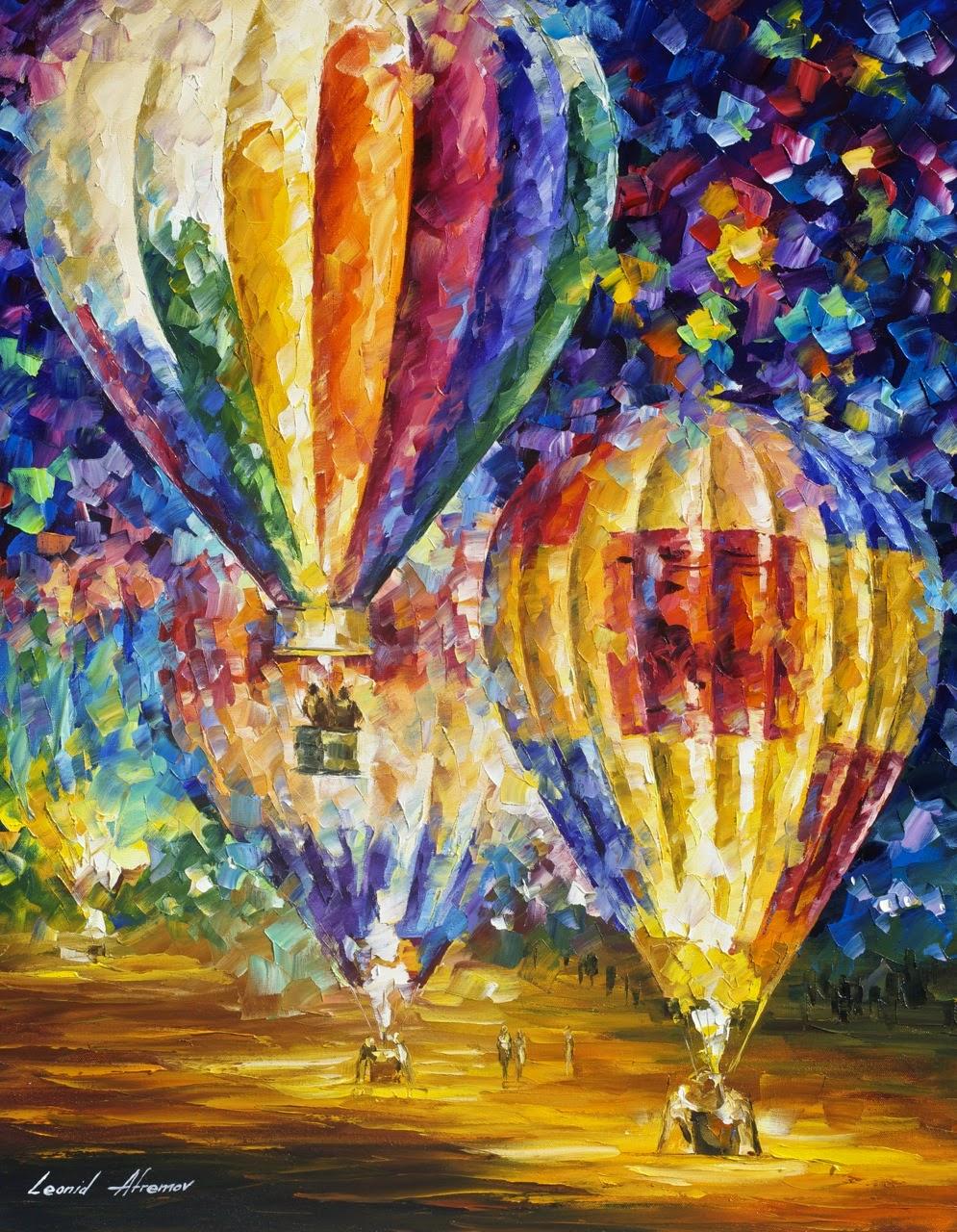 Balão e Emoções - Pinturas de Leonid Afremov | O mestres da  espátula