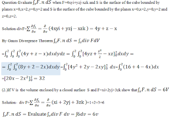 Reduction of Surface Integral to Volume Integral