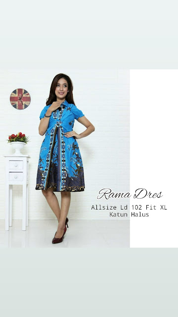 Dress-Batik-Rama-Biru-Turkis2