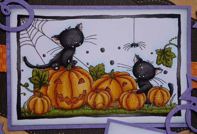 Halloween card with cats and pumpkins (image from LOTV)