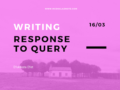 response to query