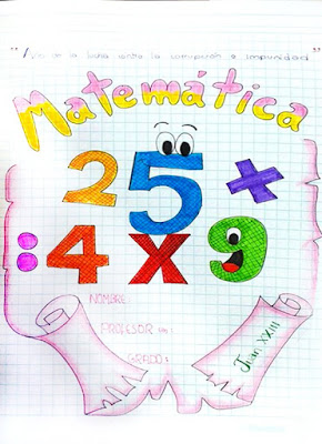 Portadas de matematicas para colorear