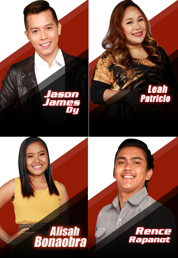 'The Voice PH' Top 4 Finalists named: Jason Dy, Alisah Bonaobra, Leah Patricio, Rence Rapanot