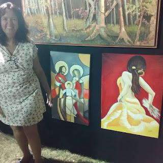 Tela exposta no Celebra Sinop -Rose Dias