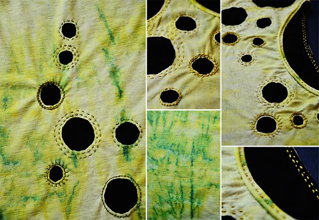 Makerist Shibori Dye Set und Alabama Chanin inspired Shirt: frauvau.blogspot.de