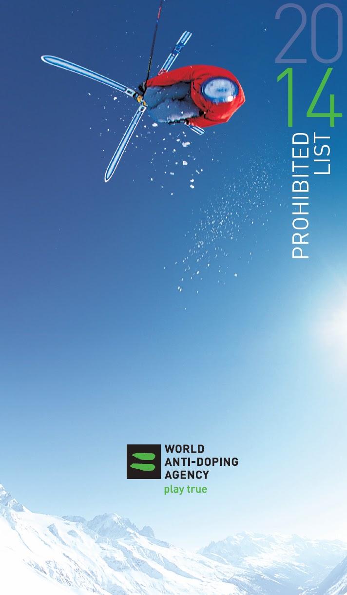 A Lista Proibida de 2014, elaborada pela Agência Mundial Antidoping (WADA). Foto: Reprodução