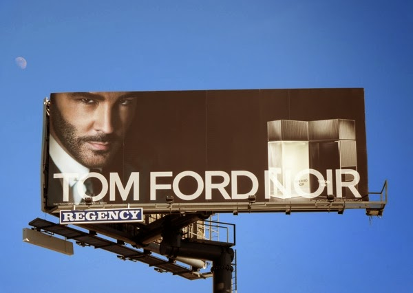 Tom Ford Noir fragrance billboard 2014