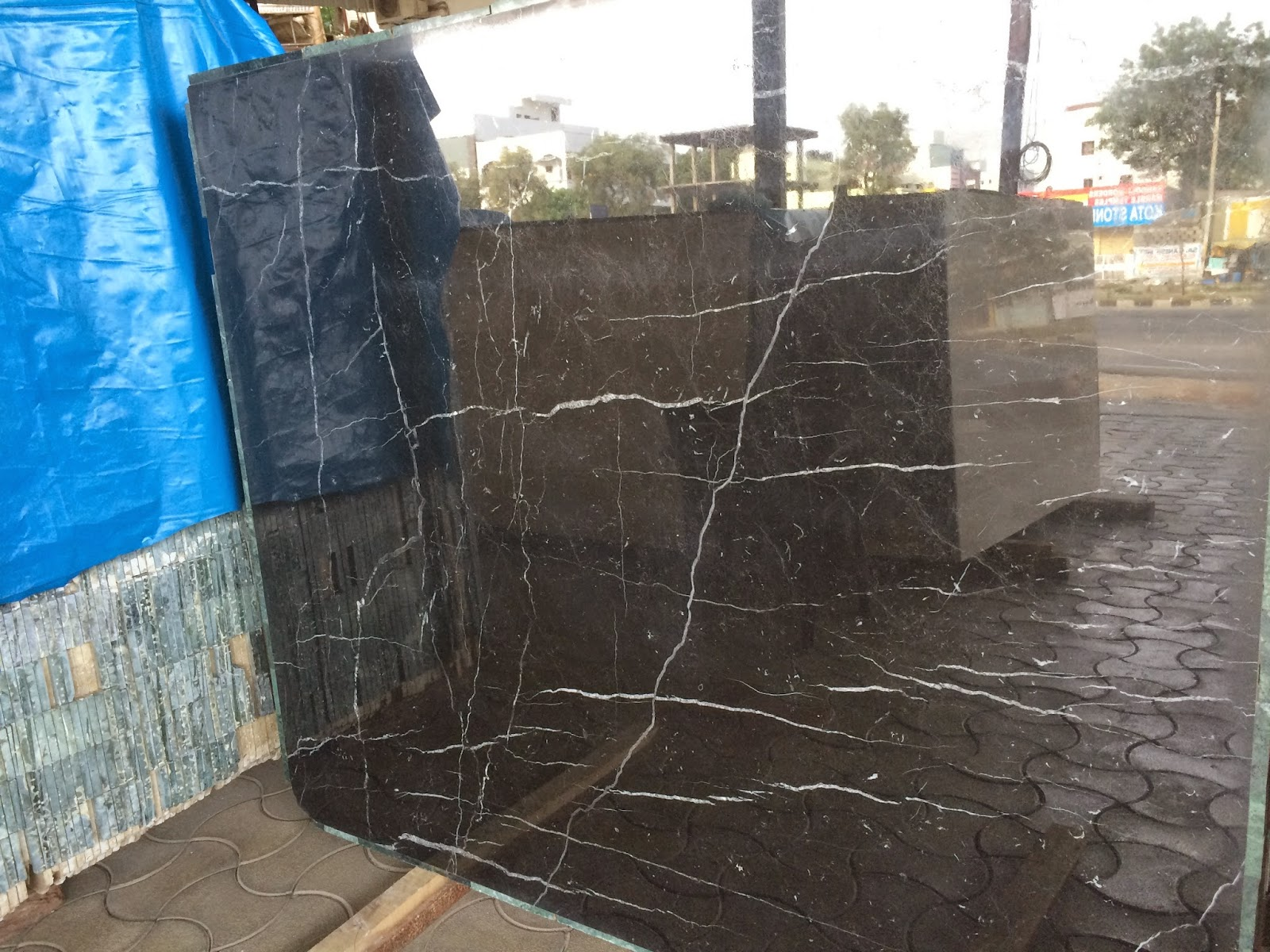 Kishangarh Marble Black Marquina Marble