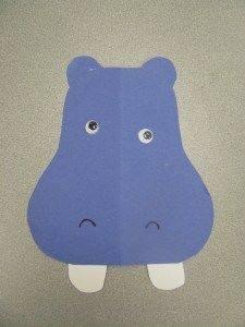Ide membuat kerajinan berbentuk kepala kuda nil menggunakan  kertas untuk anak-anak