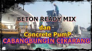 Beton cor dan Concrete Pump cabangbungin