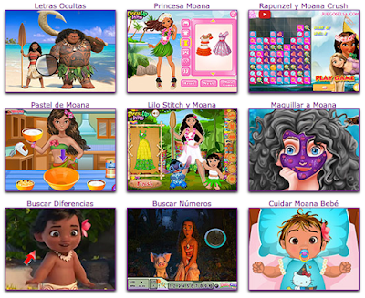 mini juegos gratis de la princesa moana