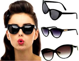 Mujer gafas protección solar ojos