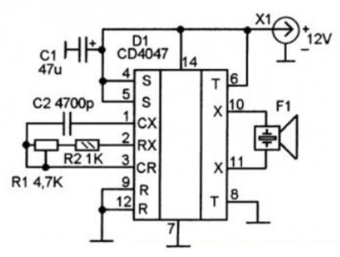 схема электронного отпугивателя тараканов