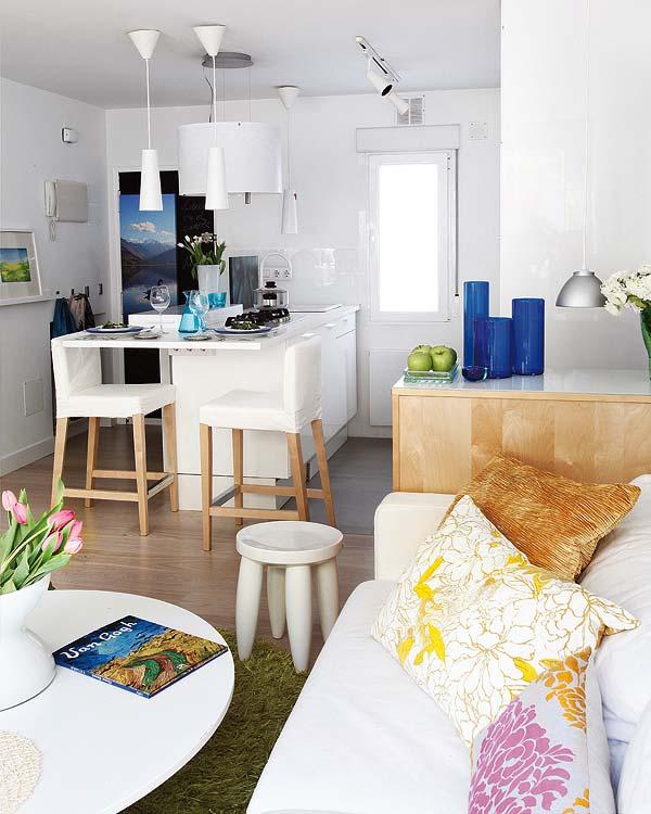 Blog achados de decora o apartamento decorado de 40m2 for Living comedor en espacios reducidos