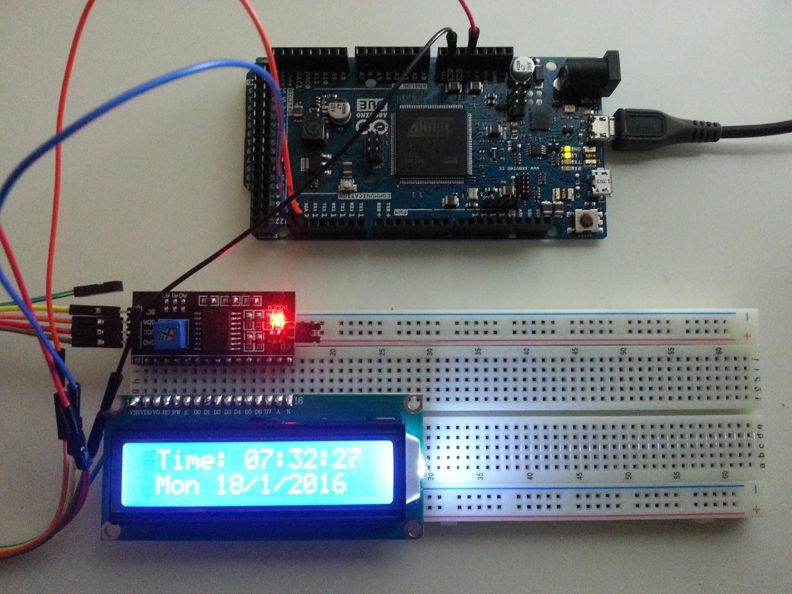 Electromania: Clock and calendar using Arduino due internal