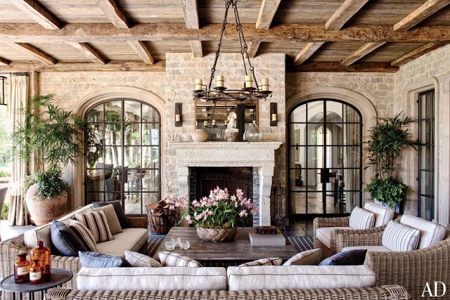 Breathtaking Stone In Loggia Of Tom Brady Gisele Bundchen Brentwood  California #Frenchchateau Mansion Sold To ...