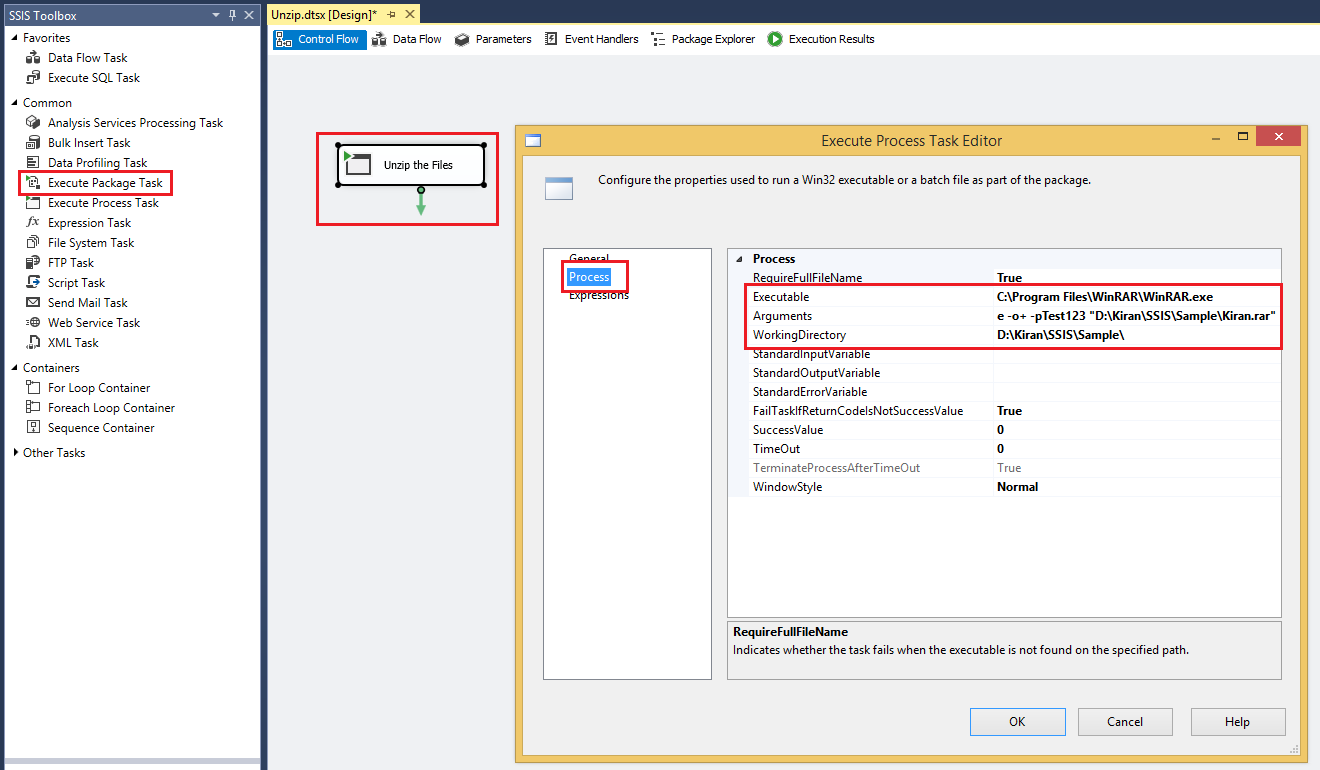 SSIS: SSIS: Unzip a Password Protected zip file
