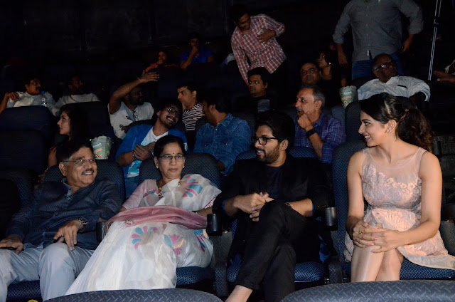 Allu Arjun, Rakul Preet Singh at Imax hyderabad