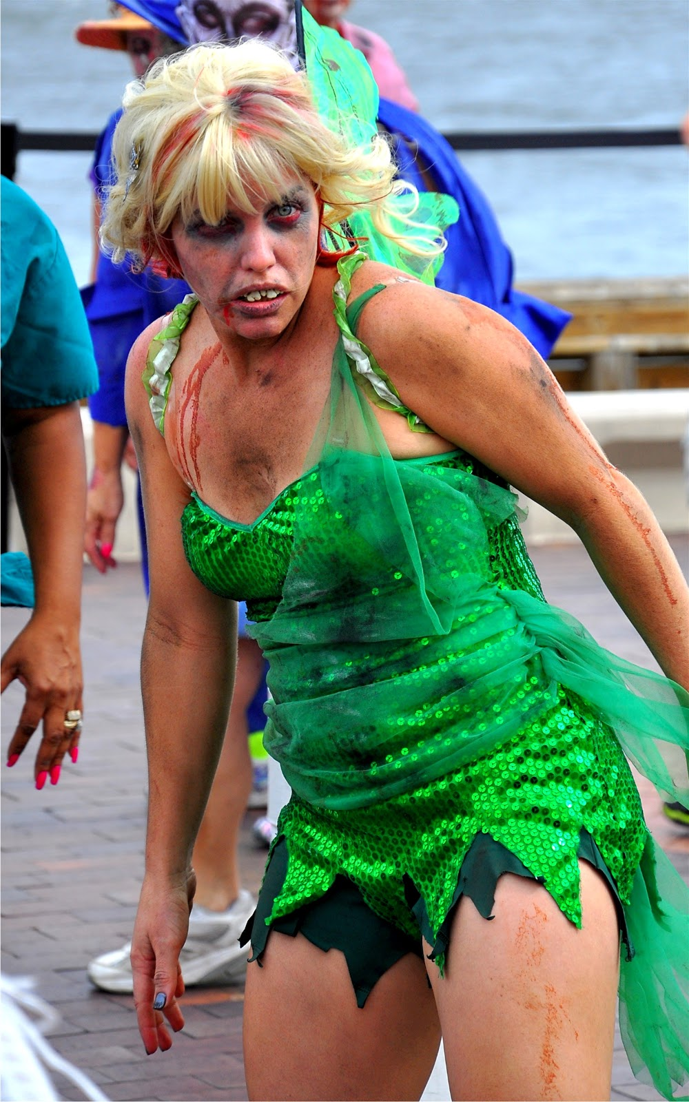 This Tinkerbell-gone-bad with her red-rimmed eyes and REALLY bad teeth was a lot of fun to watch!  sc 1 st  St. Petersburg FL Daily Photo & Zombies Thrill St. Pete! | St. Petersburg FL Daily Photo