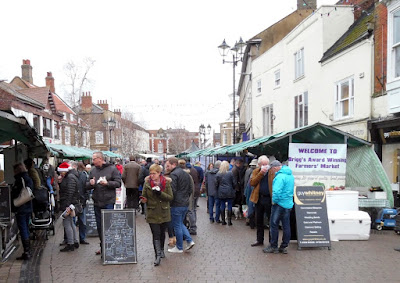Stalls on the monthly Brigg Farmers' Market - picture by Nigel Fisher's Brigg Blog