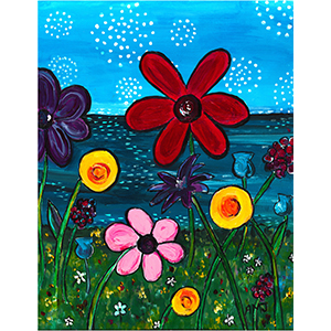 Flowers on the seaside- Original Painting