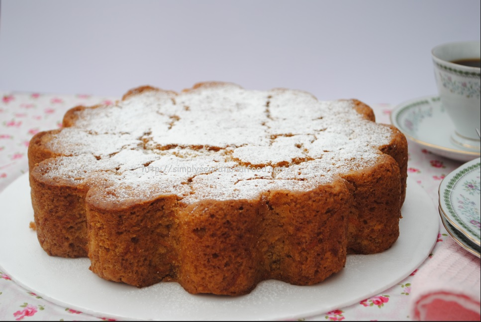 Easy Carrot Cake Recipe Jamie Oliver: Eggless Carrot Cake Baked In I Heart Cake Silicon Mould