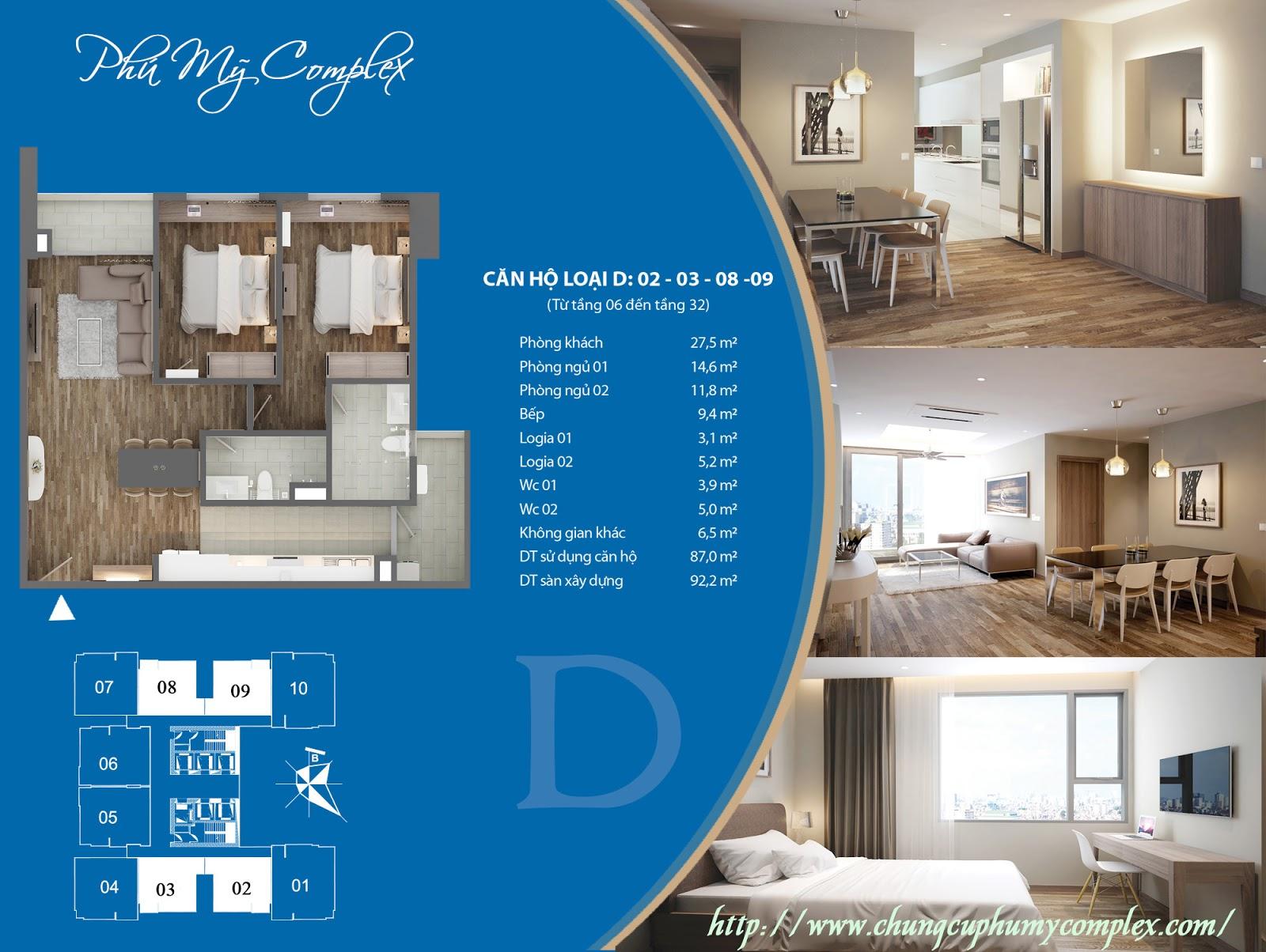 Bán căn 2308 Phú Mỹ Complex - Giá bán 32tr/m2