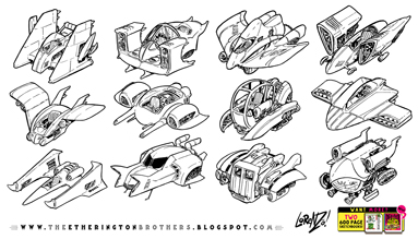 http://studioblinktwice.deviantart.com/art/12-speeder-hovership-designs-and-concepts-631493901