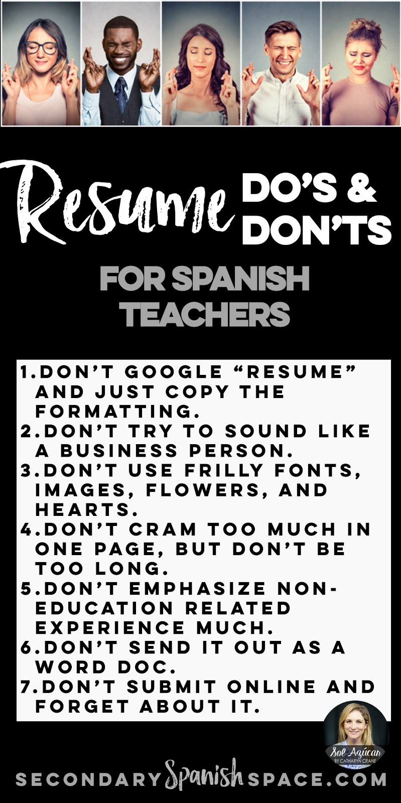 resume do s and don ts for teachers secondary