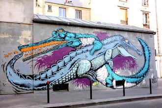 Sunday Street Art : Hobz et Retro - rue Jean-Baptiste Dumay - Paris 20
