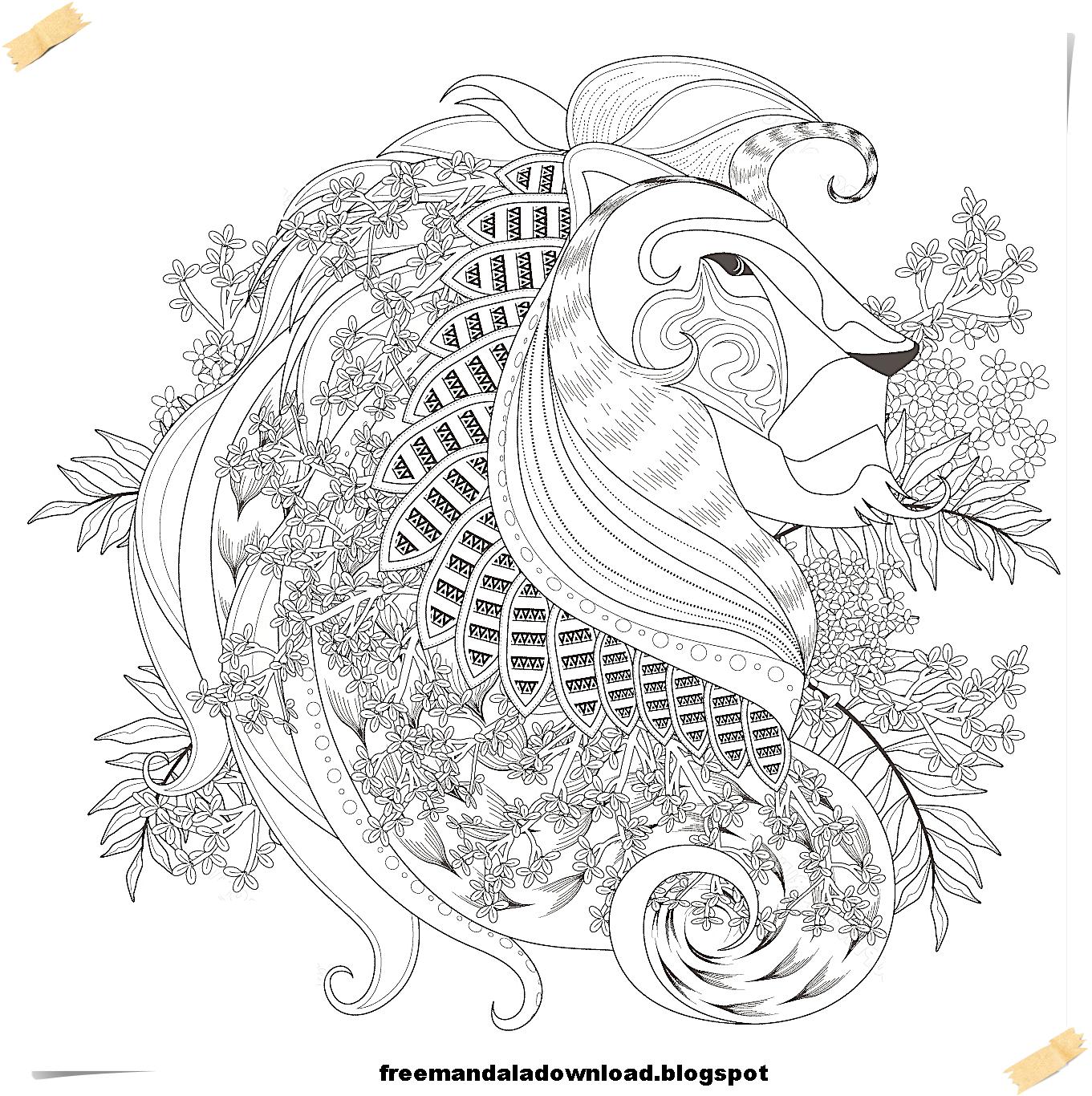 Mandala Tiere-Mandala animals - Free Mandala