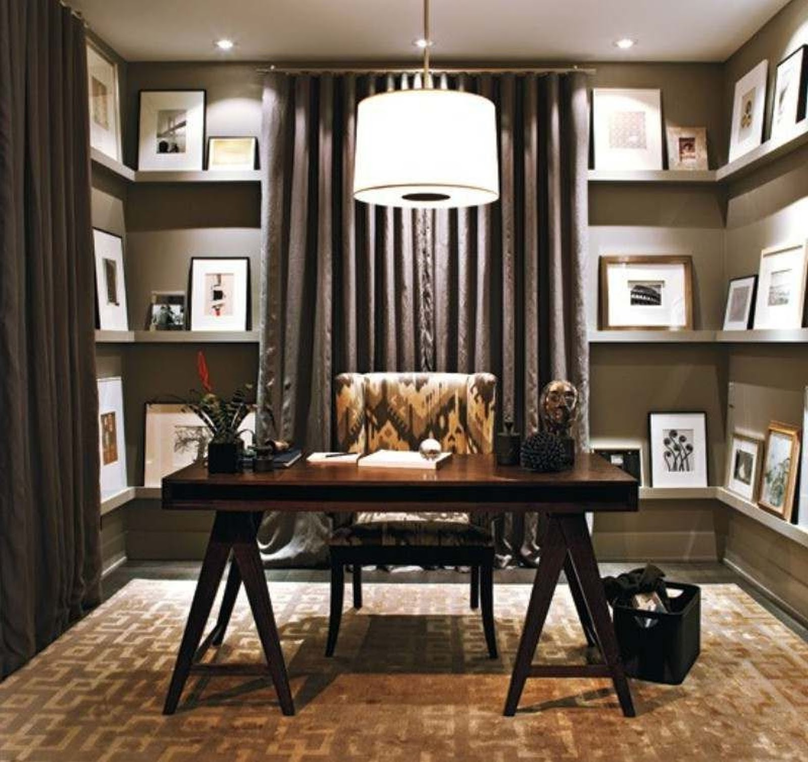 24 Luxury And Modern Home Office Designs: 5 Tips How To Decorating An Artistic Home Office