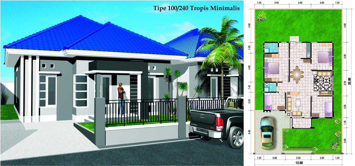 Desain Rumah Minimalis Type 45 Sederhana Contoh Z