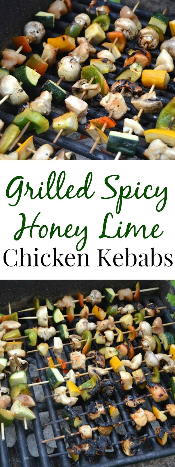 Grilled Spicy Honey Lime Chicken Kebabs make the perfect summer meal and are marinated in a spicy and sweet sauce! www.nutritionistreviews.com