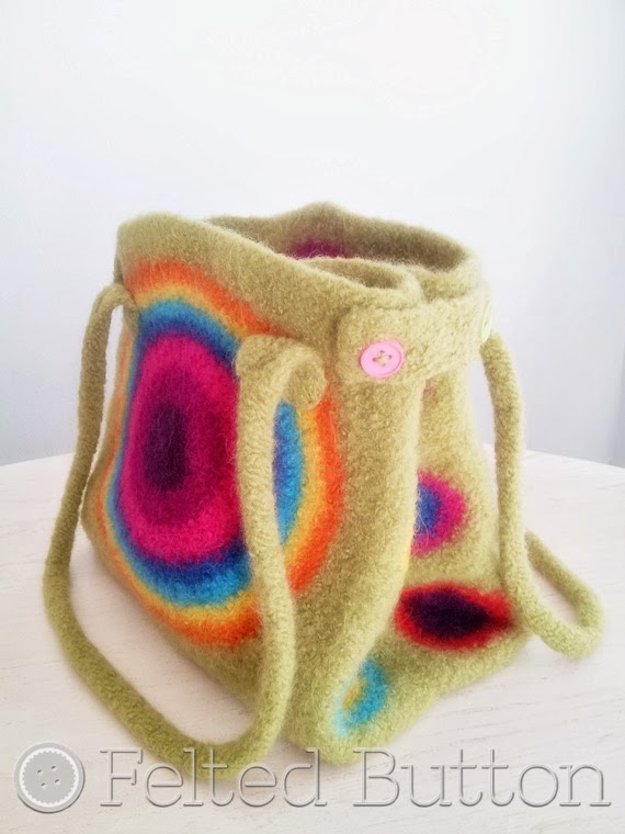 Felted Button -- Colorful Crochet Patterns