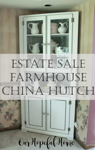 farmhouse china hutch corner cabinet ironstone