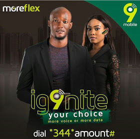 9mobile Moreflex Tariff Plan, Subscription Codes and Price