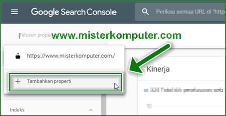 Cara Menambahkan Properti Domain di Webmaster Baru